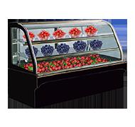 大理石圆弧水果柜