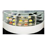 圆弧型蛋糕组合柜